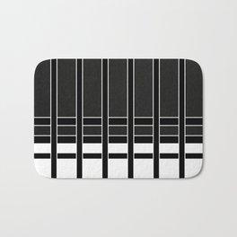 Modern Minimalist Black and White Stripes Bath Mat