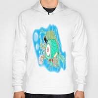 steam punk Hoodies featuring Whimsical Steam Punk Fish by J&C Creations