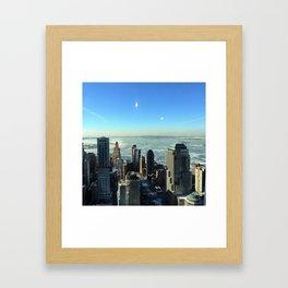 Looking down New York Framed Art Print