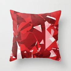 Abstract Red Throw Pillow