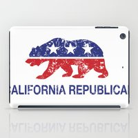 political iPad Cases featuring California Political Republican Bear Distressed by Republican
