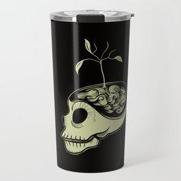 Cute Skulls Think Green Travel Mug