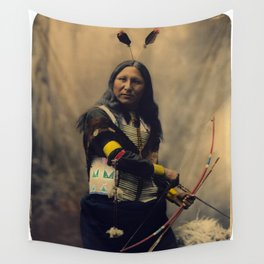 Shout At, Oglala Sioux, by Heyn Photo, 1899 Wall Tapestry
