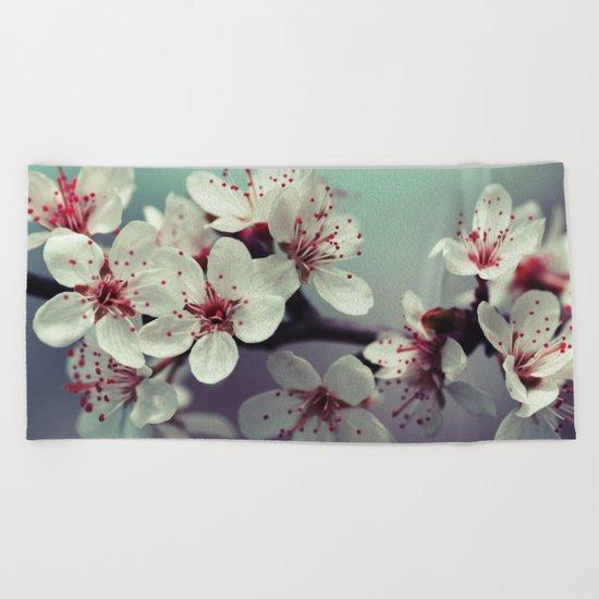 Cherry Blossom, Cherryblossom, Sakura, Vintage Style Beach Towel