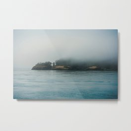 Foggy Morning at Deception Pass Metal Print