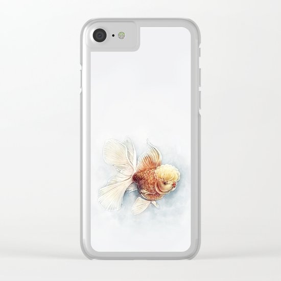 Oranda Goldfish Clear iPhone Case