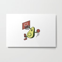 Avocado Playing Basketball Metal Print