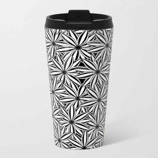 Pattern W Metal Travel Mug