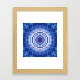 Flower of Life blue Framed Art Print