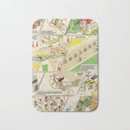 Tour de France Comic Book Bath Mat