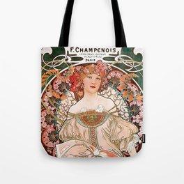 "Alfons Mucha, "" F.Champenois "" Tote Bag"