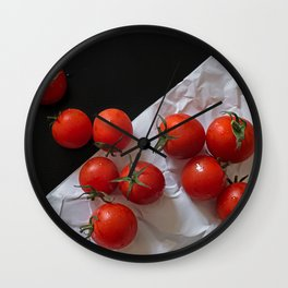 Red ripe tomatoes Wall Clock