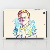 downton abbey iPad Cases featuring RIP Matthew Crawley, of Downton Abbey.  by Erin Gallagher Illustration and Design