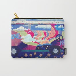 Hippie Camper Van Carry-All Pouch