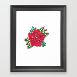 Tattoo Flower by Shane A. Framed Art Print