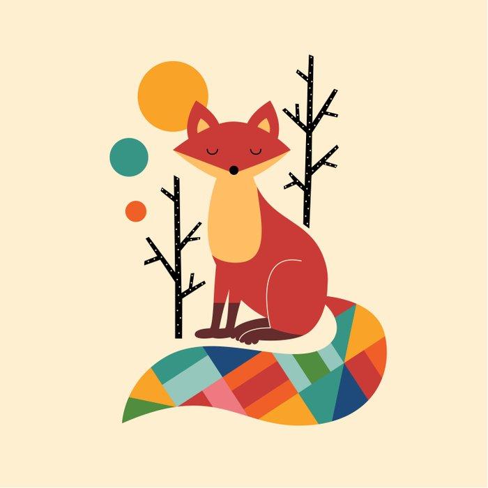 Rainbow Fox Comforters