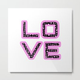 [Glittered Outline Effect Variant] Love's Simply Stylish Metal Print
