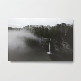 Foggy Fall Creek Falls Metal Print