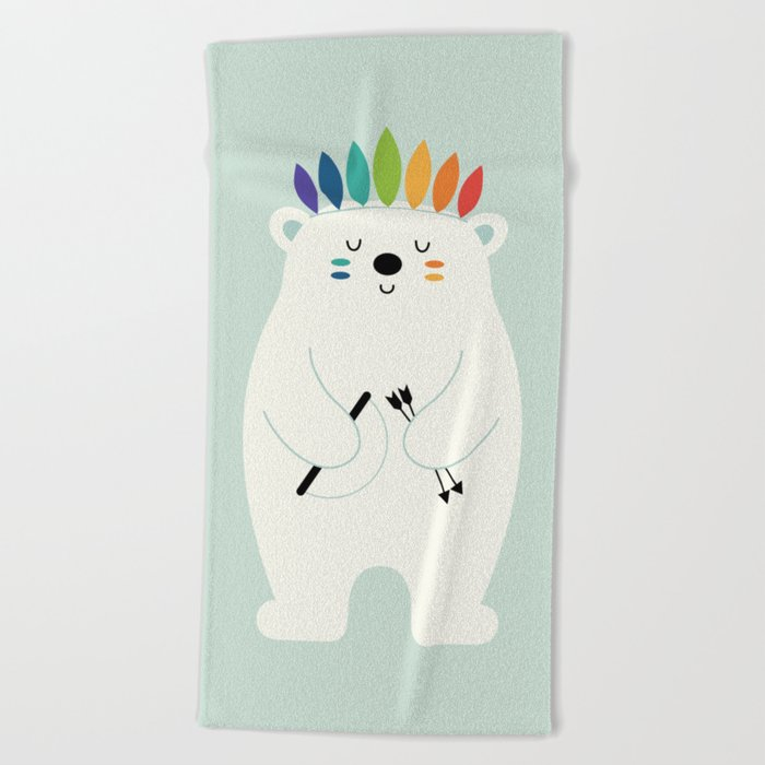 Be Brave Polar Beach Towel