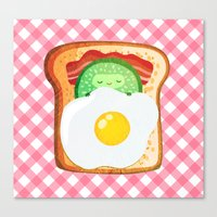novelty Canvas Prints featuring Good morning by Anna Alekseeva kostolom3000