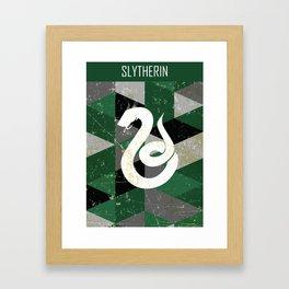 Slytherin House Pattern Framed Art Print