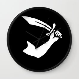 Pirate Flag of Thomas Tew Sword Wall Clock