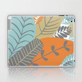 Bright Tropical Leaf Retro Mid Century Modern Laptop & iPad Skin