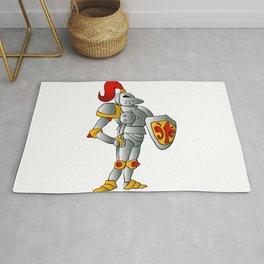 Cartoon knight. Rug
