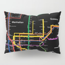 New York City subway map Pillow Sham