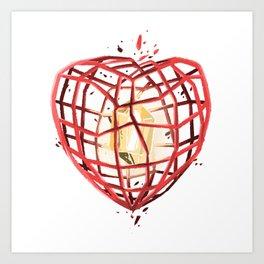 Take Care of My Heart, Valentine Art Print