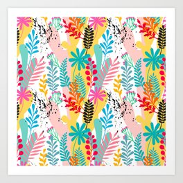 Beautiful abstract floral pattern Art Print