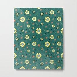 Geometric Floral Pattern v2 Metal Print
