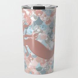 Elegant Mermaid Blush, Pink, Coral, Aqua, Teal Travel Mug