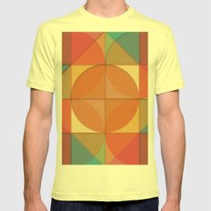 Basic shapes Lemon SMALL Mens Fitted Tee