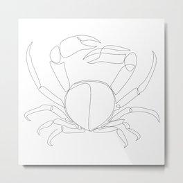crab - one line art Metal Print