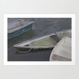 Cape Porpoise Dories Art Print