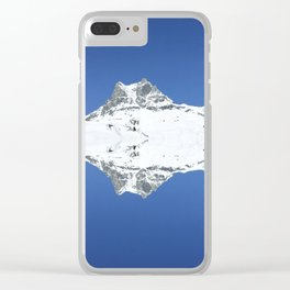 Mirrored mountain 5 Clear iPhone Case