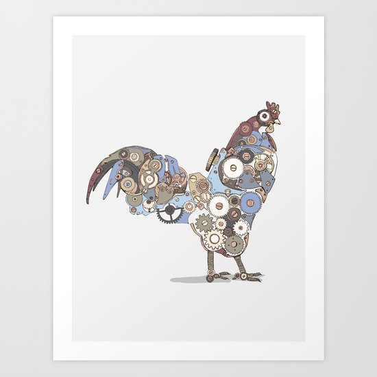 Chicken Alarm Art Print