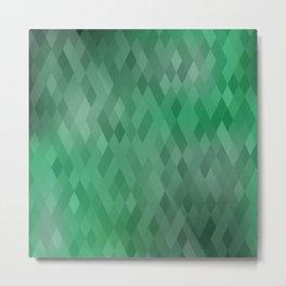 Green Diamond Abstract Ombre Design Metal Print