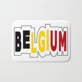 Belgium Font #1 with Belgian Flag Bath Mat