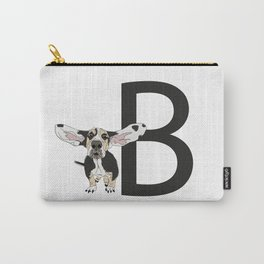 B is for Basset Hound Dog Carry-All Pouch