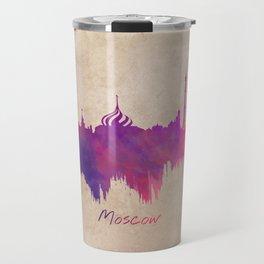 Skyline Moscow purple Travel Mug