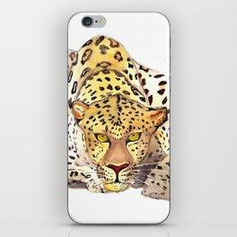 Watercolor leopard iPhone Skin