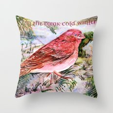 In The Bleak Cold Winter Throw Pillow