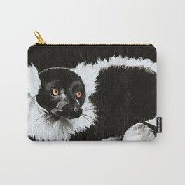 Lemur in B & W Carry-All Pouch