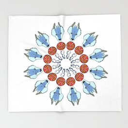 Mononoke Mandala Throw Blanket
