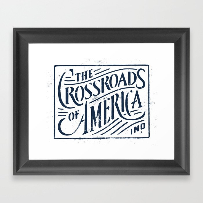 Indiana Framed Art Print