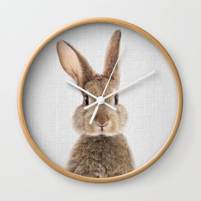 Rabbit - Colorful Wall Clock