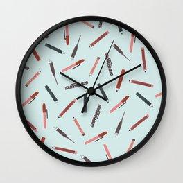 Pens and pencils Wall Clock