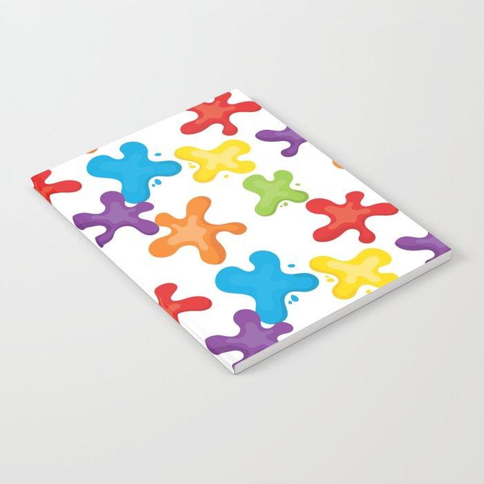Paint splatters Notebook